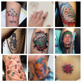 10 Holly Jolly Tattoos to Declare your Undying Love for Christmas via SHUGGILIPPO.com