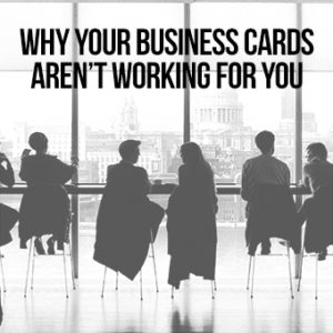 Why Your Business Cards Don't Work via shuggilippo.com