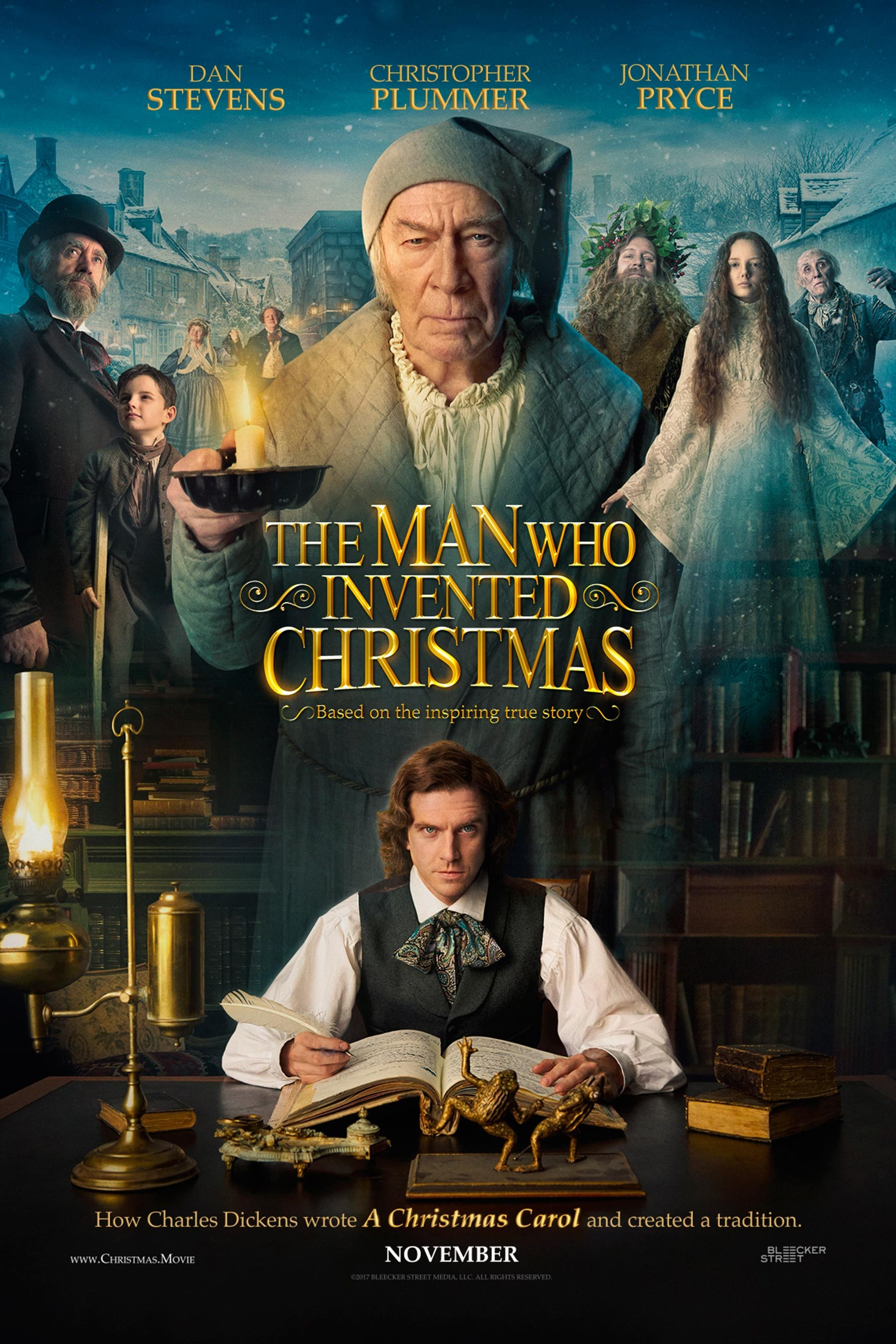 The Man Who Invented Christmas is in theaters November 22, 2017.