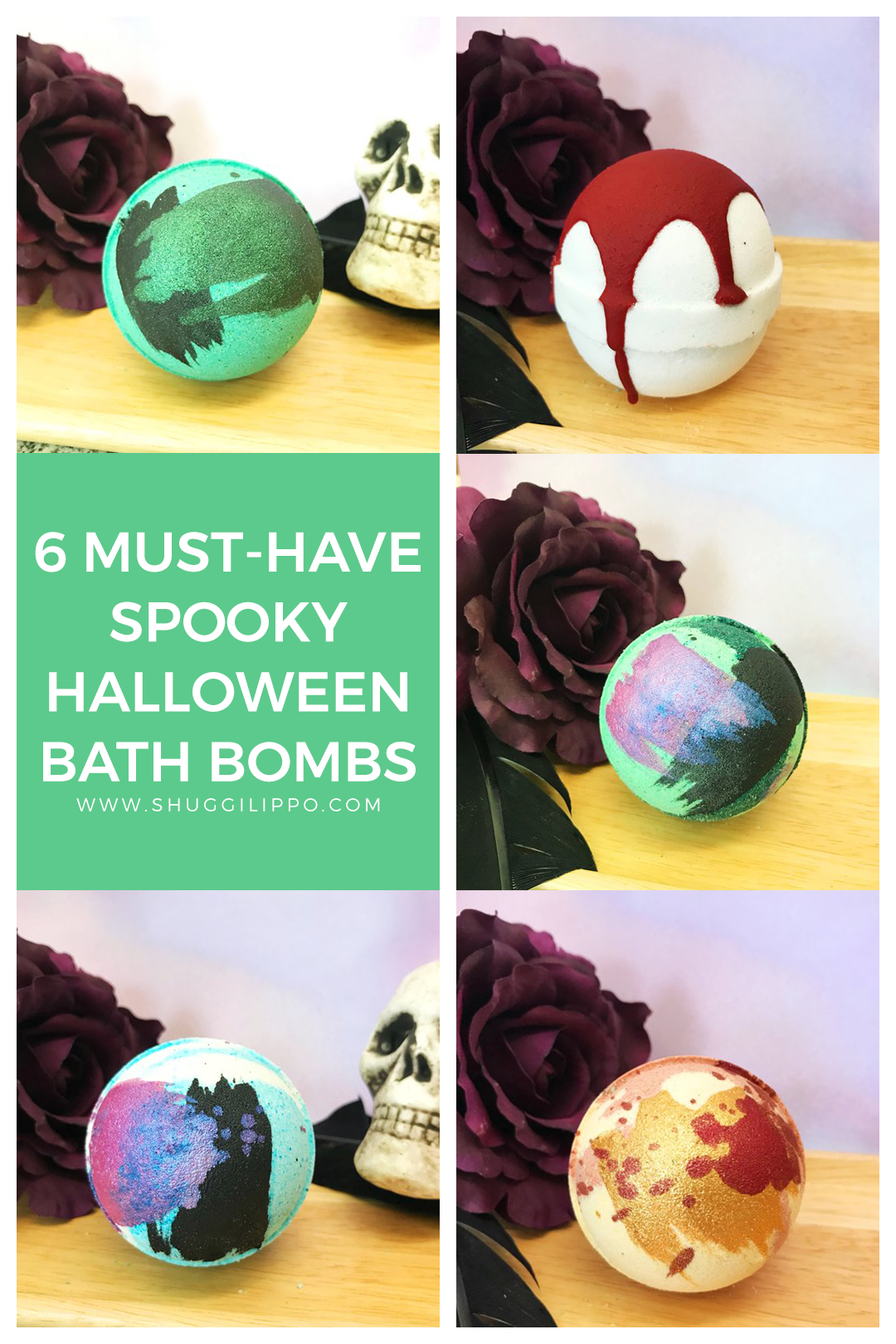 6 Must-Have Spooky Halloween Bath Bombs by Whipped Up Wonderful via @shuggilippo