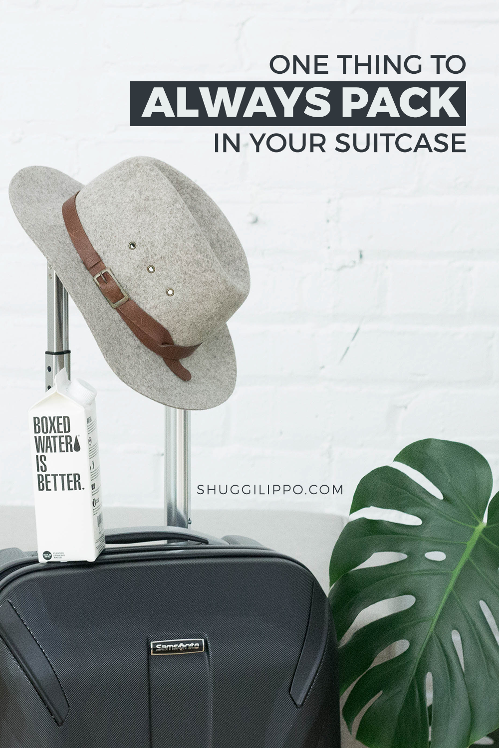 The One Thing to Always Pack in your Suitcase via SHUGGILIPPO